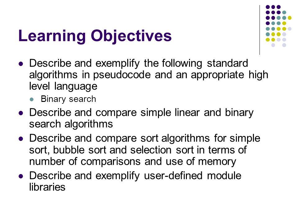 Topic 7 Standard Algorithms