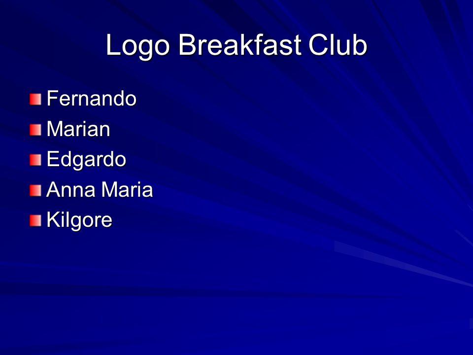 Logo Breakfast Club FernandoMarianEdgardo Anna Maria Kilgore