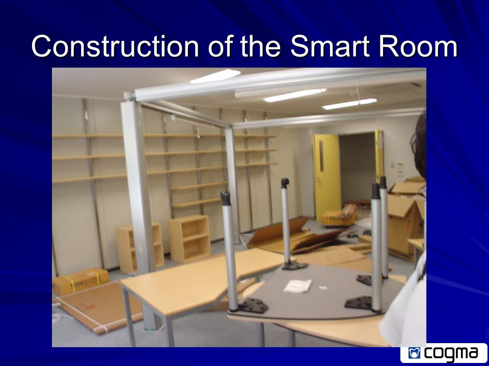 Construction of the Smart Room ( 2002~ ) Heterogeneous Network A lot of devices are Embedded in the room