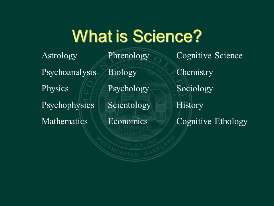 Defining Science Is science defined by its method of reasoning.