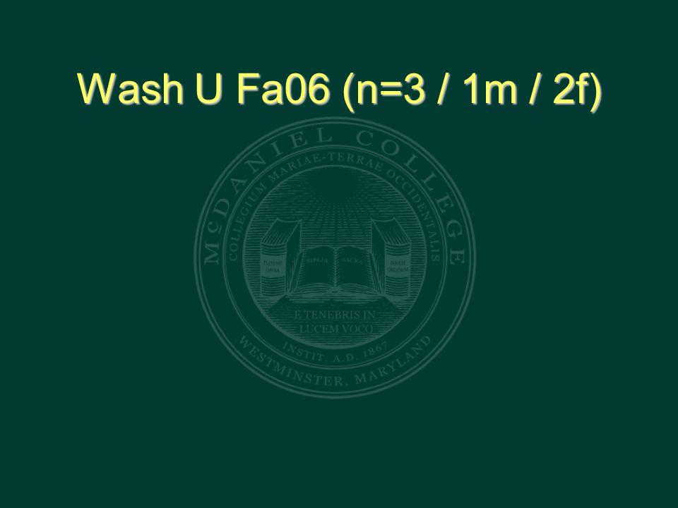 Wash U Fa06 (n=3 / 1m / 2f)