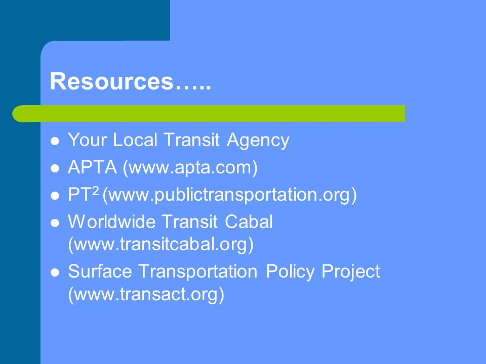 Resources…..