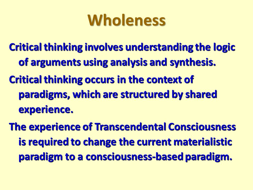 Importance of Evidence in Bridging Conflicting Paradigms We may accept an unsupported fact if it fits into our paradigm.