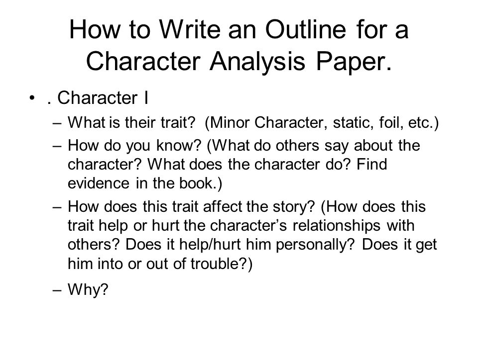 Can you help me improve my thesis for a character analysis?