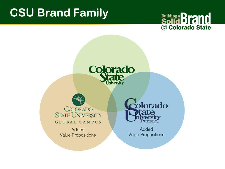 Brand PromiseCSU Brand Family