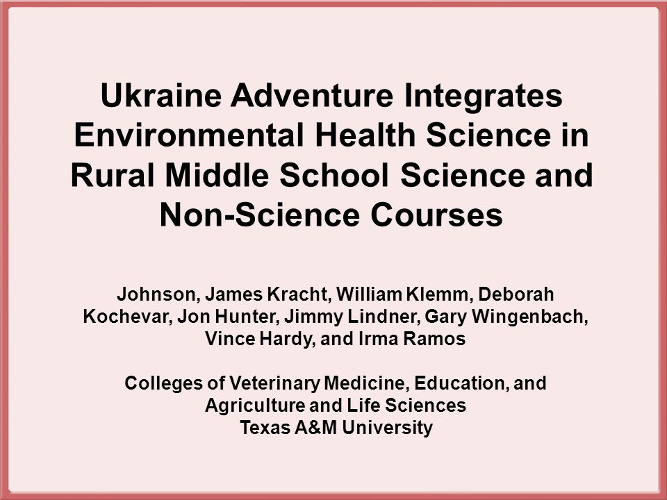 Students determine absolute and relative global location of the Ukraine and take a tour along the Dneiper River where they learn about local geography, industrial economy (natural resources), agricultural crops grown, and how these have added to growing environ- mental concerns about pollution on the river.