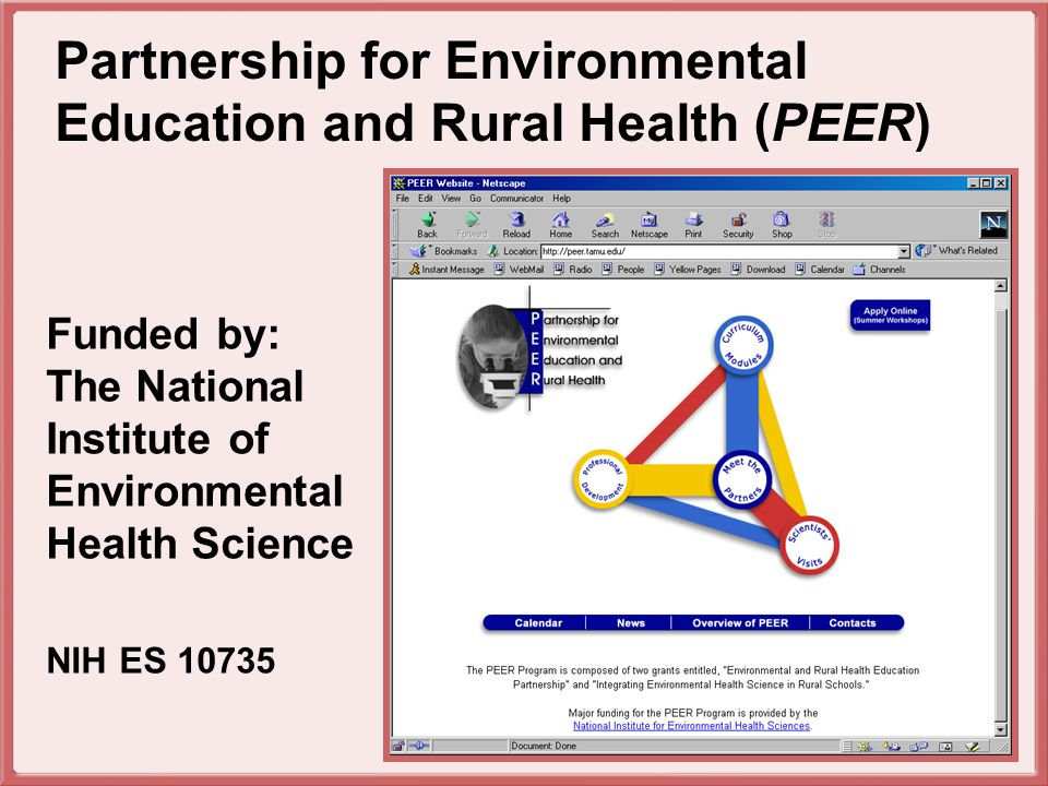 To encourage teachers to motivate students by showing how mathematics, English language arts, social studies, and science relate to real world environmental health science problems and issues.