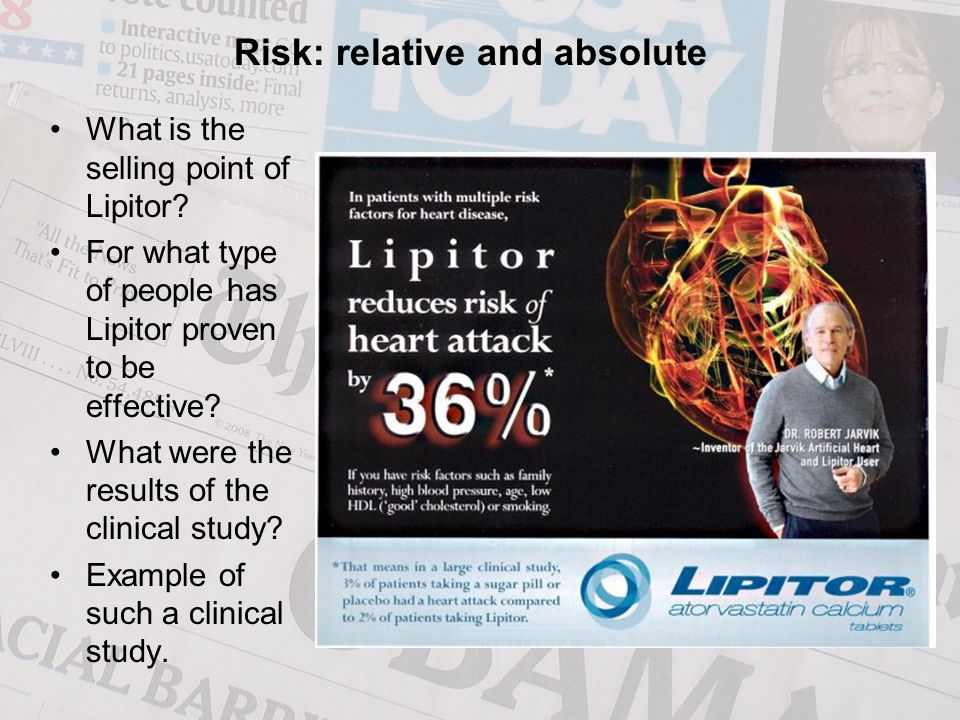 What is the selling point of Lipitor. For what type of people has Lipitor proven to be effective.