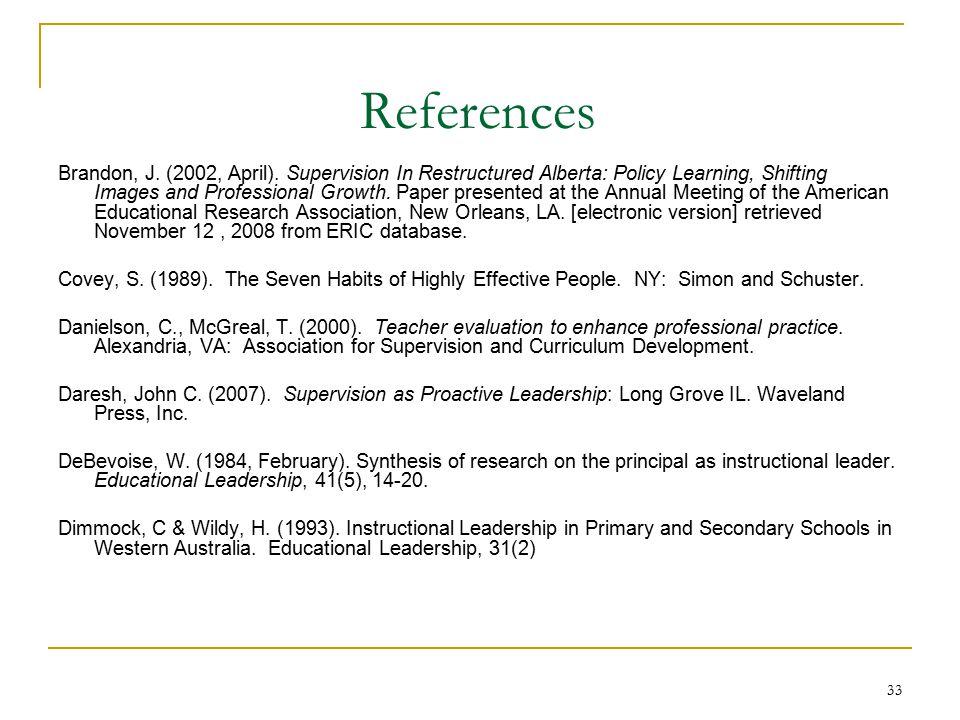 33 References Brandon, J. (2002, April).