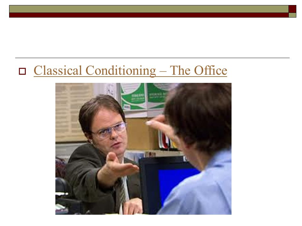  Classical Conditioning – The Office Classical Conditioning – The Office