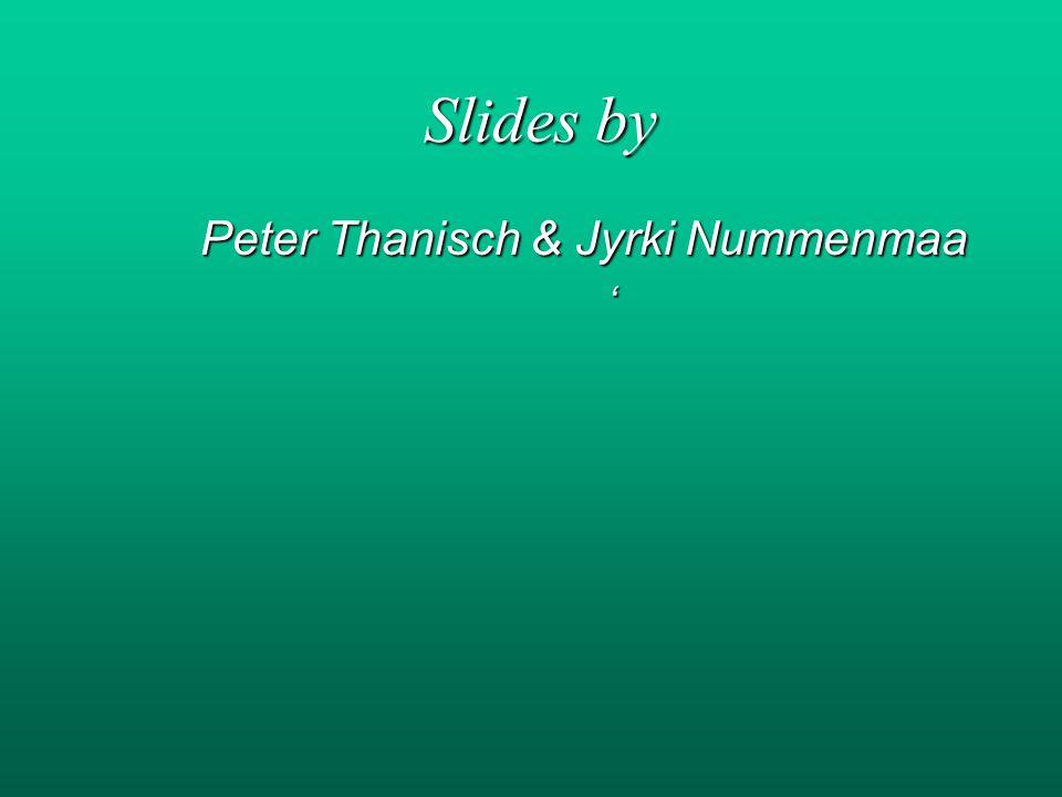 Slides by Peter Thanisch & Jyrki Nummenmaa '