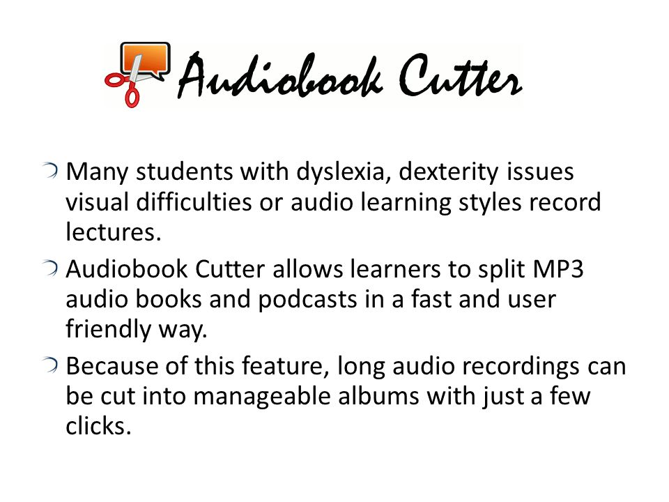 Multimedia and Presentation Tools AudacityAudacity records and editing audio What do educators think of this: Helps people record their voice rather t