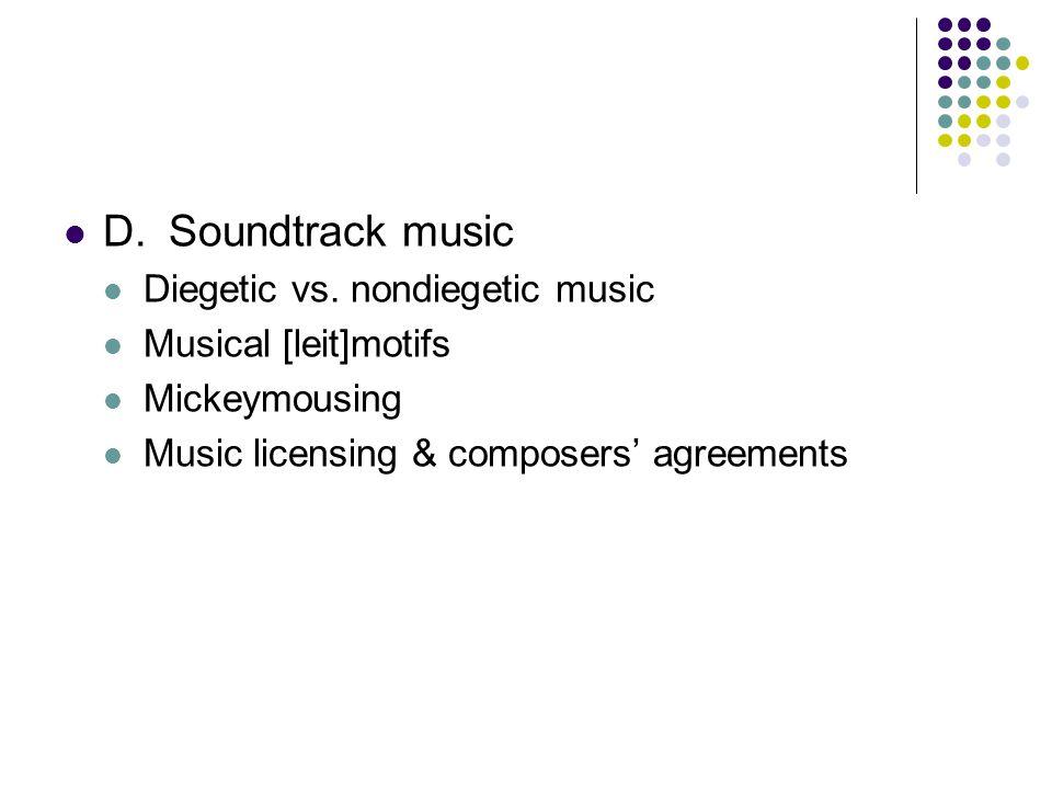 D.Soundtrack music Diegetic vs.