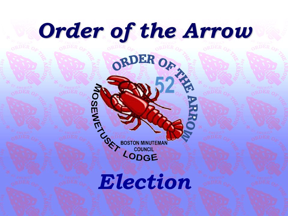 Order of the Arrow Election