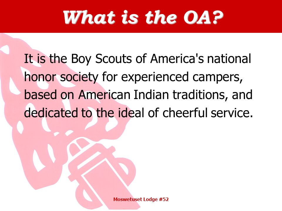 What is the OA.