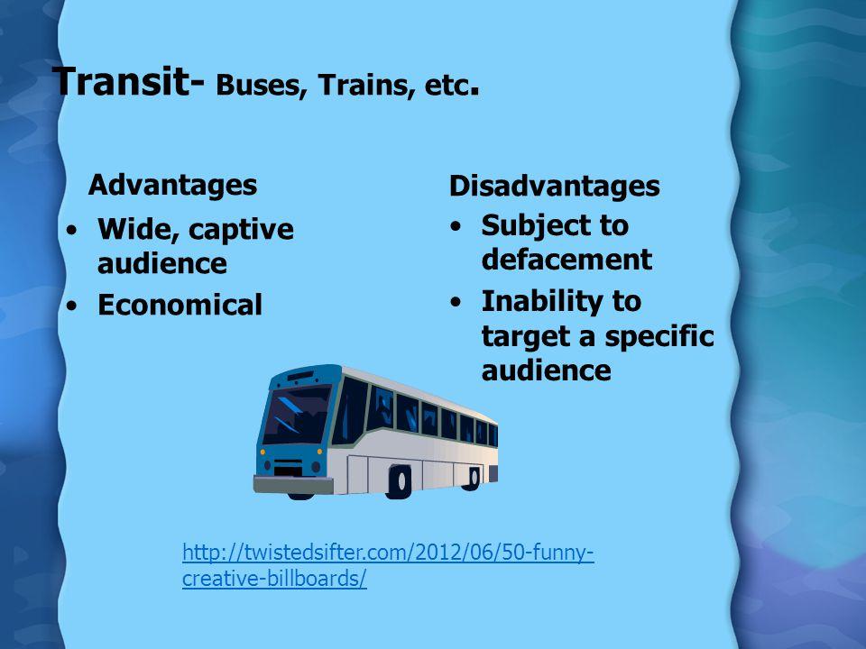 Transit- Buses, Trains, etc.