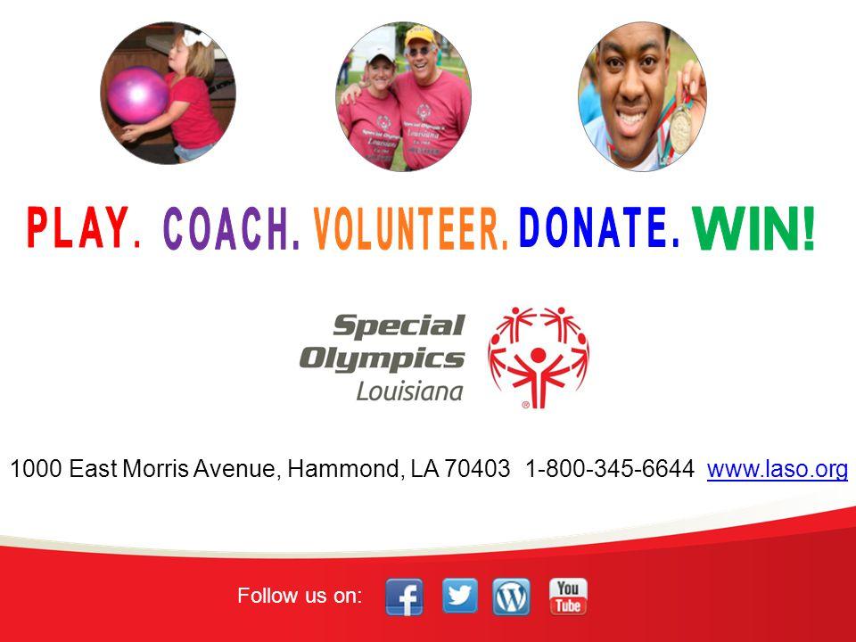 1000 East Morris Avenue, Hammond, LA 70403 1-800-345-6644 www.laso.org Follow us on: