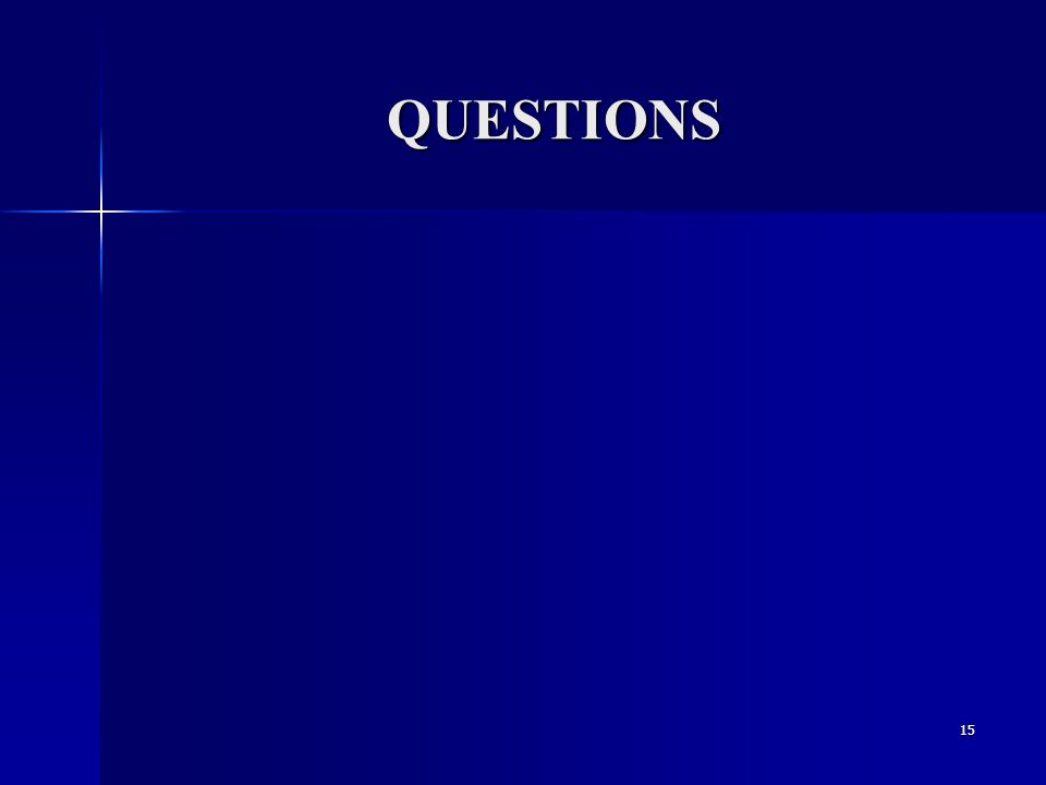 QUESTIONS 15