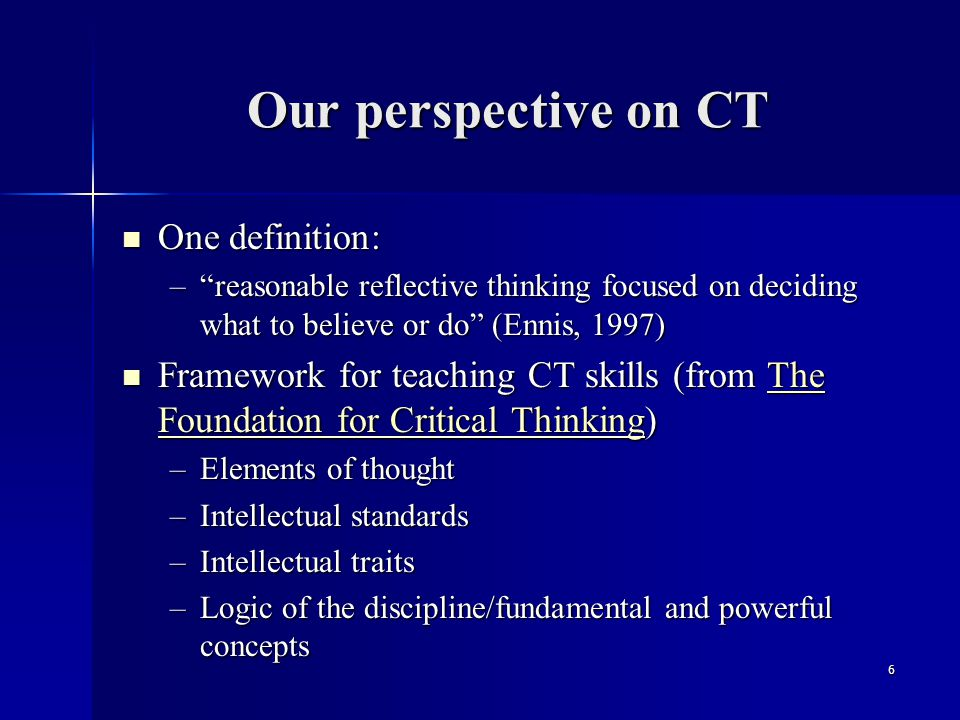 Fundamental premise To analyze thinking we must identify and question its elemental structures.