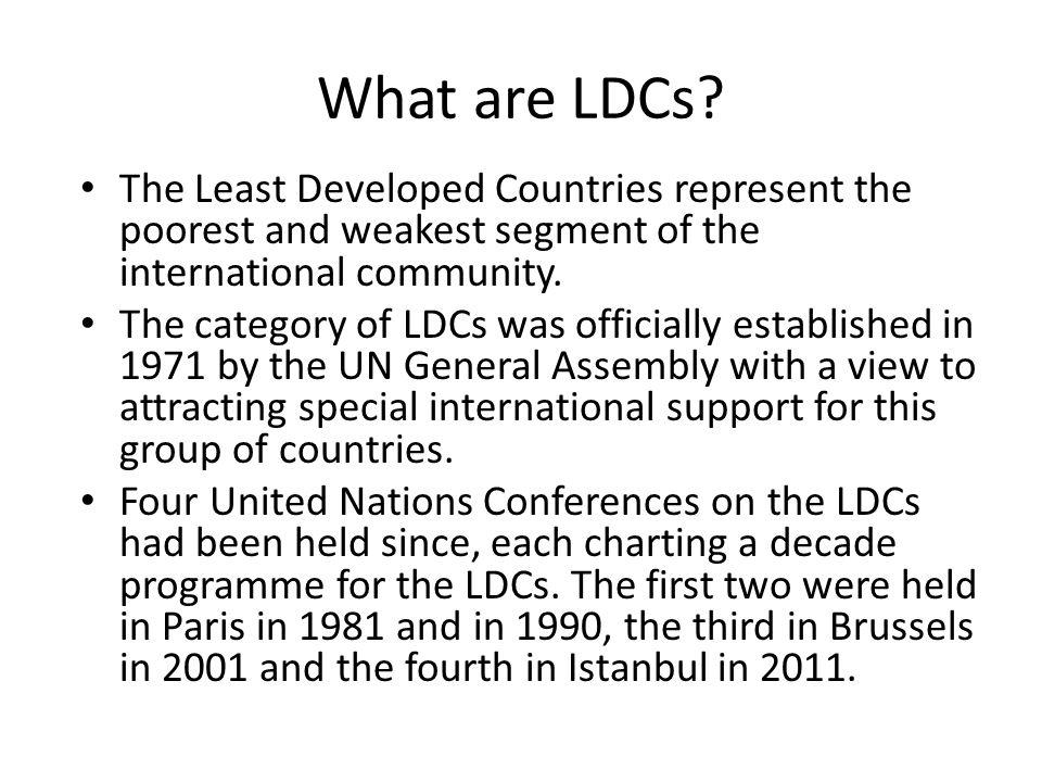 What are LDCs.