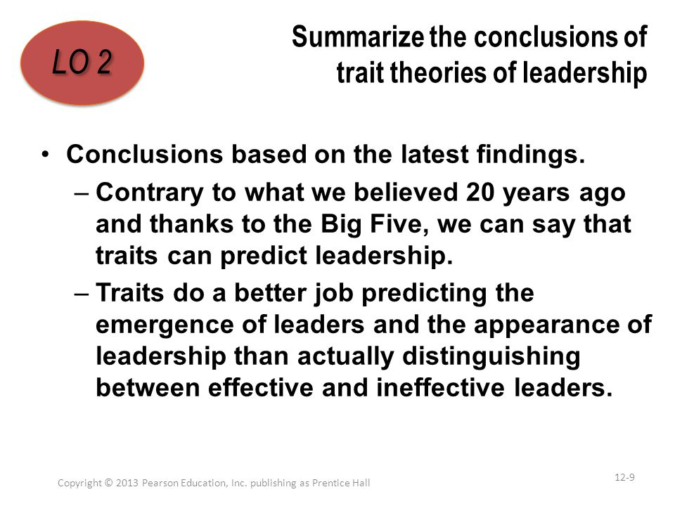 Demonstrate the role mentoring plays in our understanding of leadership Copyright © 2013 Pearson Education, Inc.