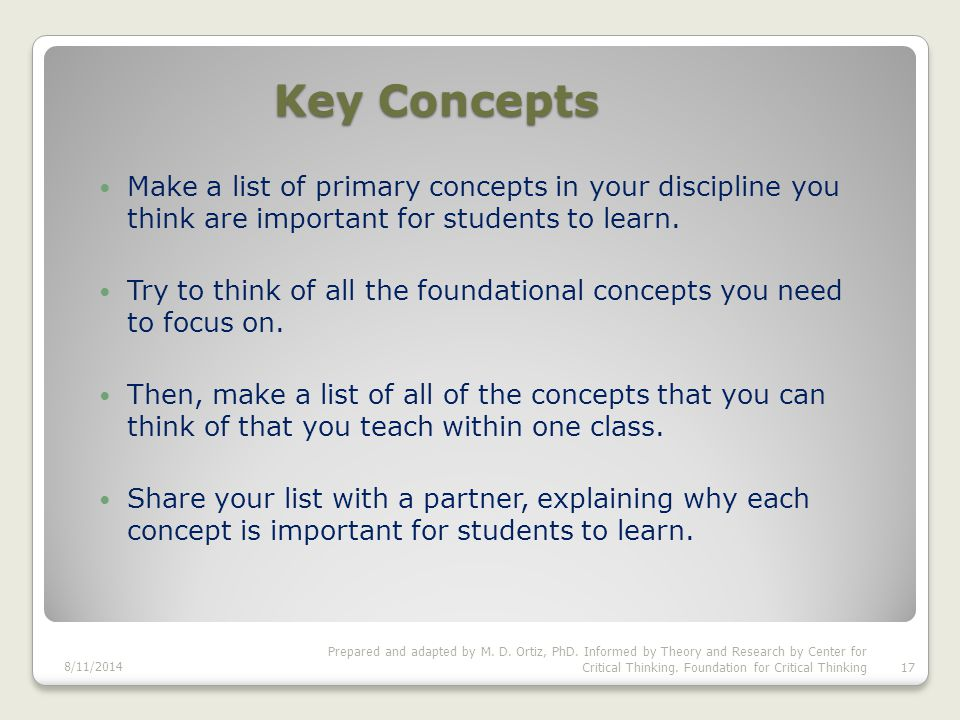 Making Learning Visible While Implementing Fundamental & Primary concepts of the Discipline in Course Learning Outcomes.