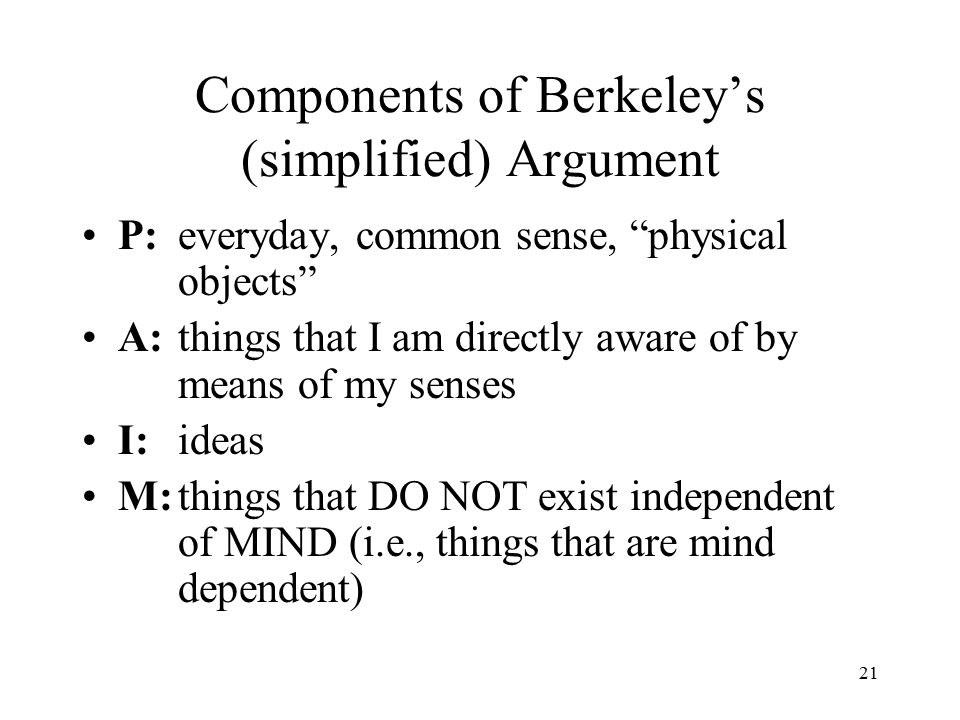 Descartes' View of Perception 20