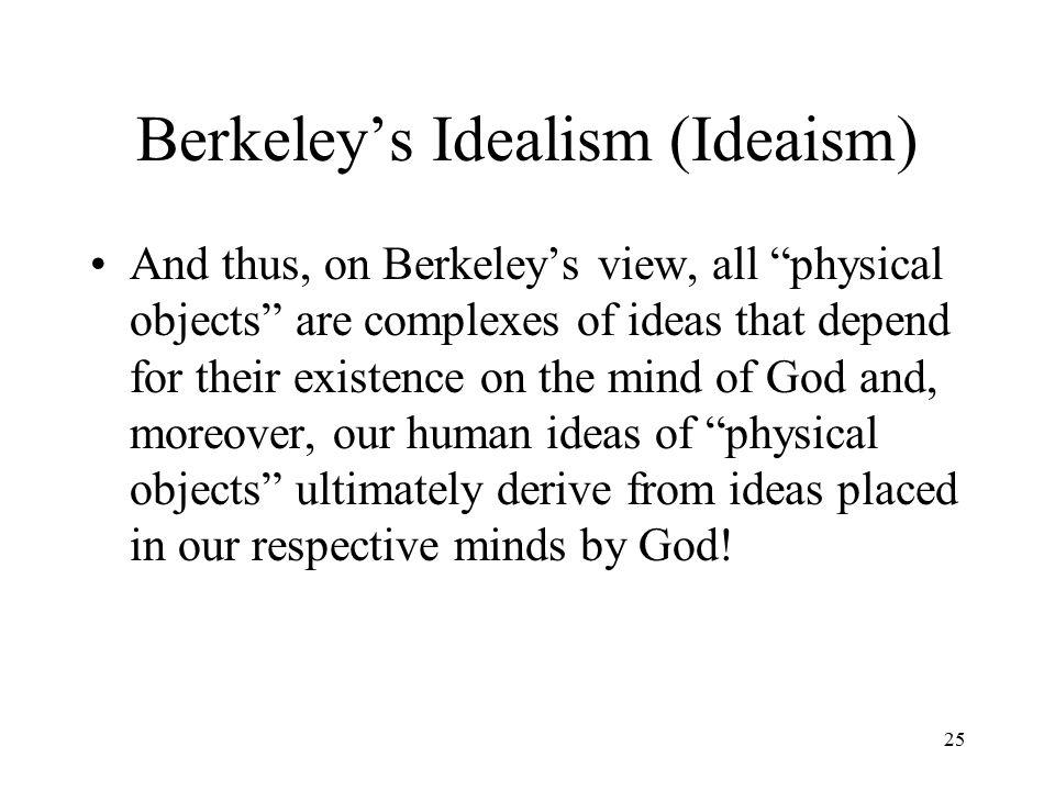 Berkeley's Idealism (Ideaism) 24