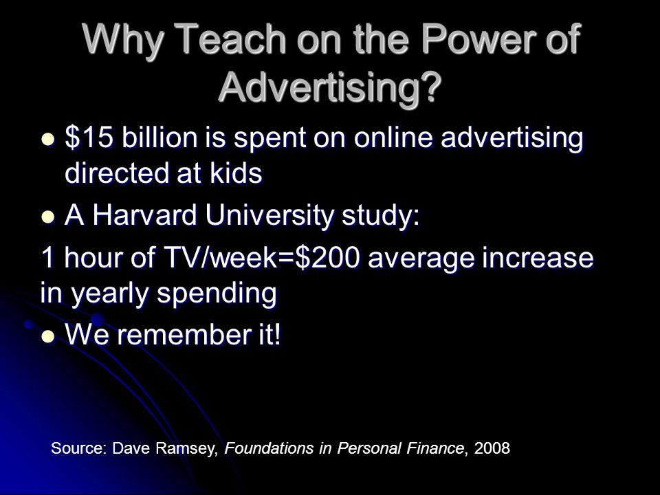 Why Teach on the Power of Advertising.