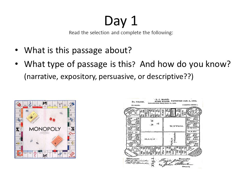 Day 2 Reread the selection and complete the following: Find & highlight the word royalties in the passage (used more than once).