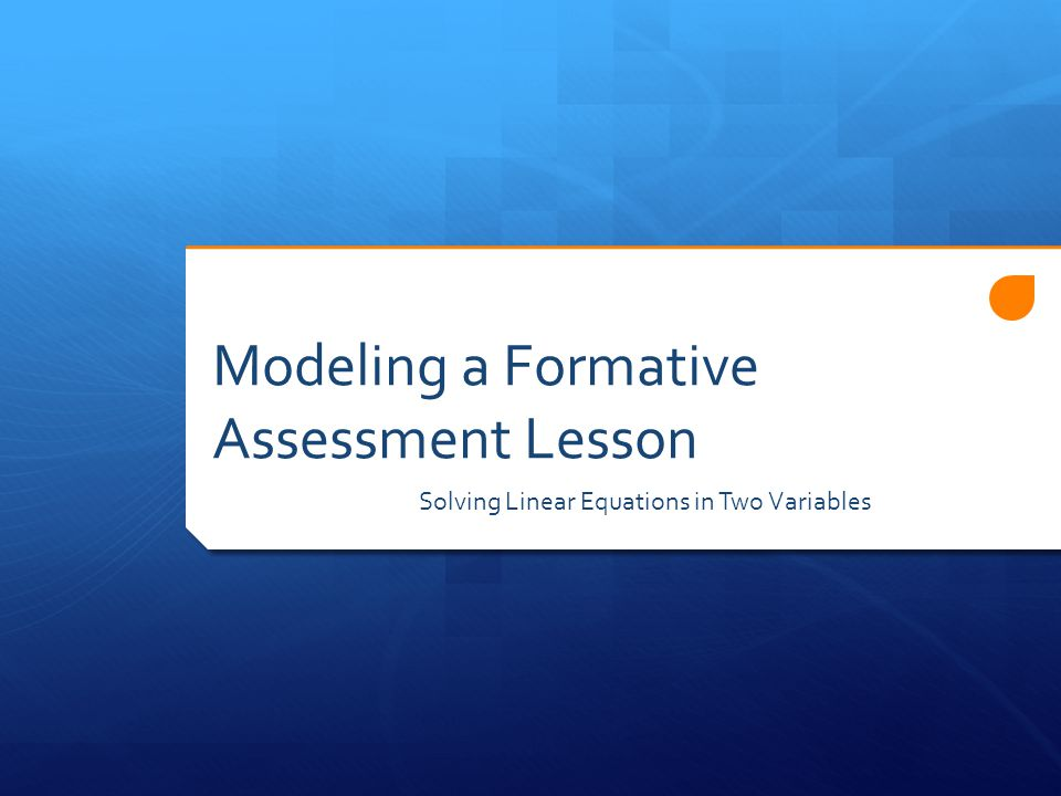 Modeling a Formative Assessment Lesson Solving Linear Equations in Two Variables