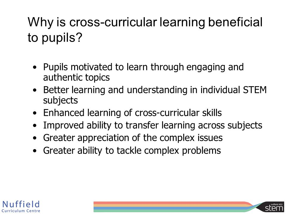 Why is cross-curricular learning beneficial to pupils.