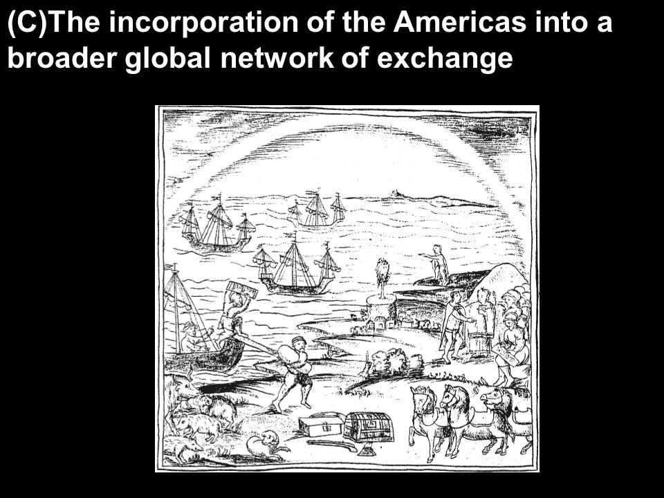 (C)The incorporation of the Americas into a broader global network of exchange