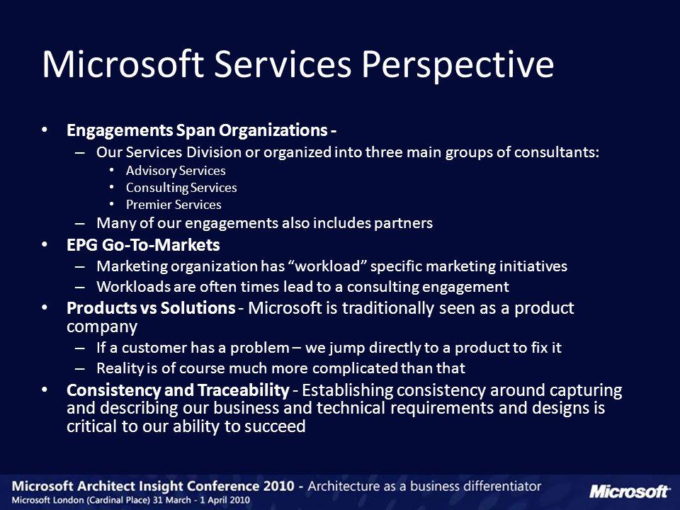 Microsoft Services Business Architecture (MSBA)