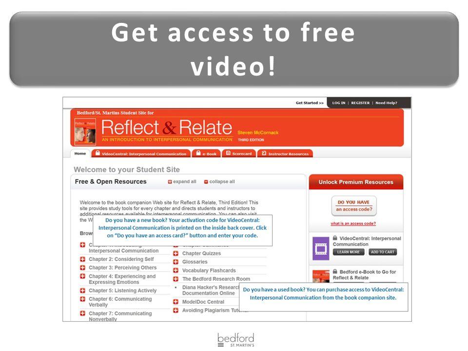 Get access to free video! Get access to free video!