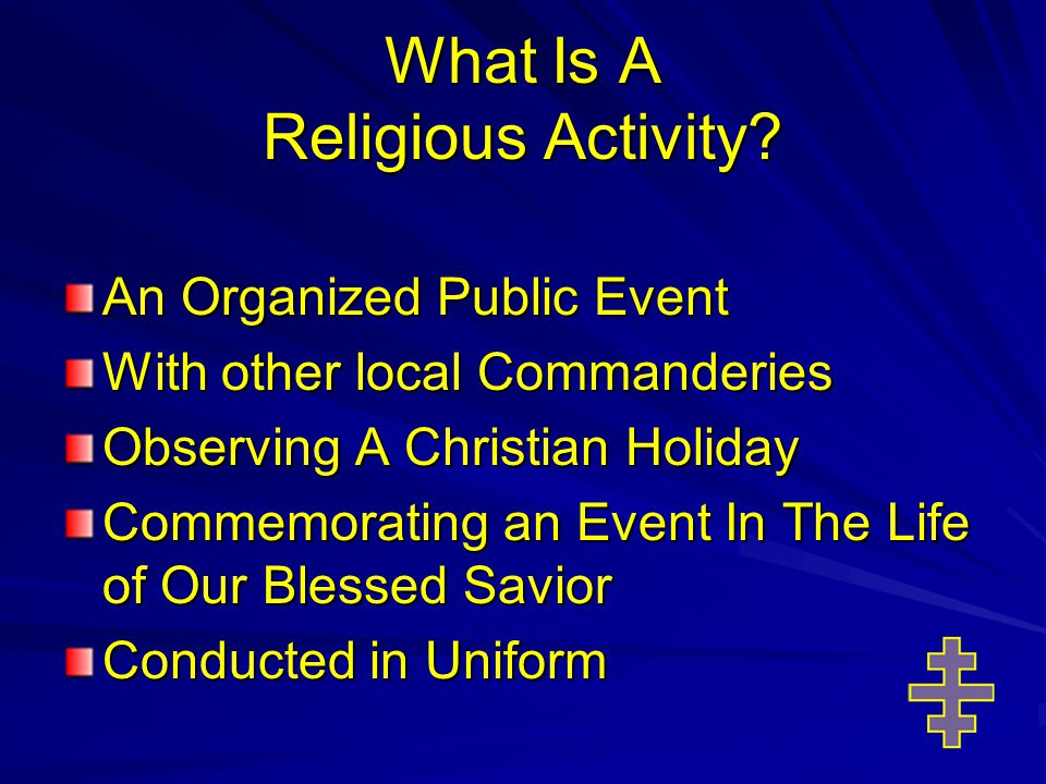 What Is A Religious Activity.