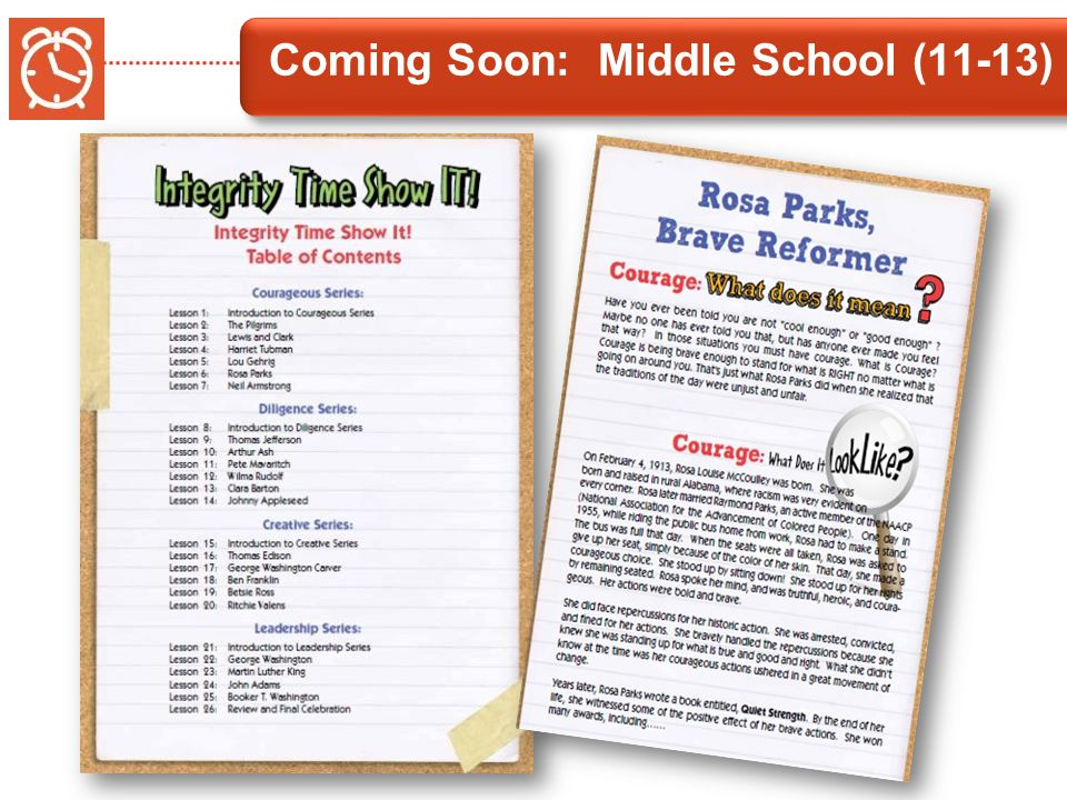Coming Soon: Middle School (11-13)