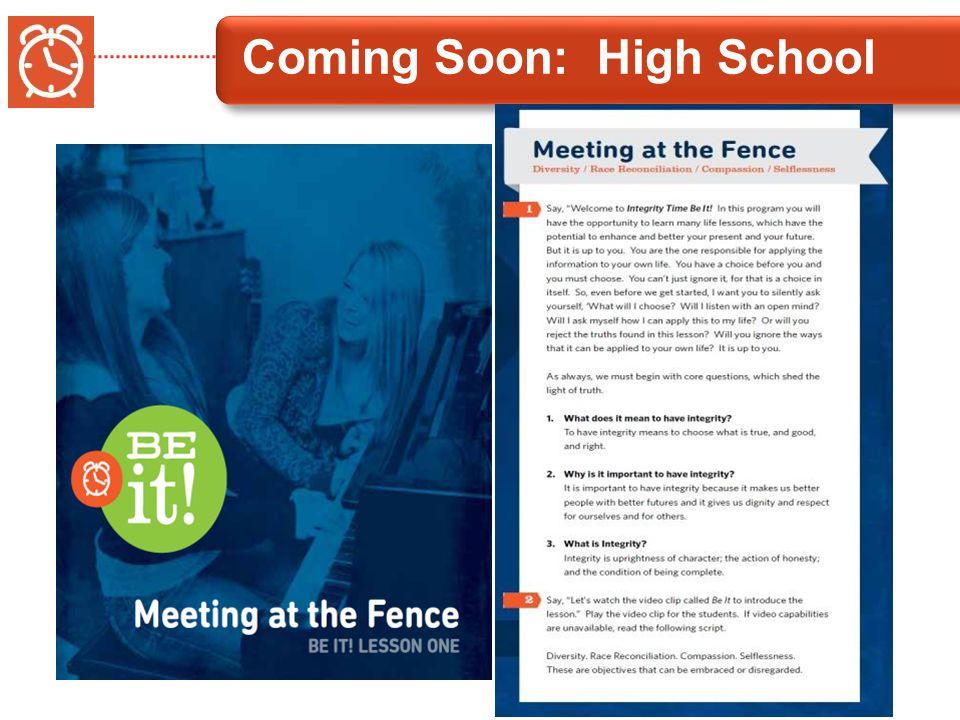 Coming Soon: High School