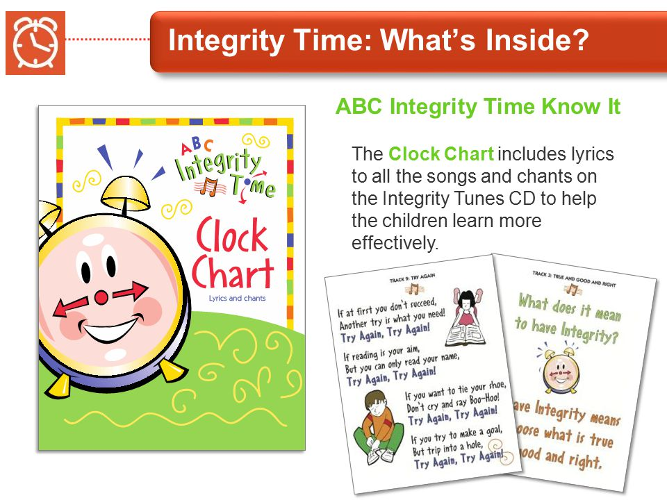 Integrity Time: What's Inside.