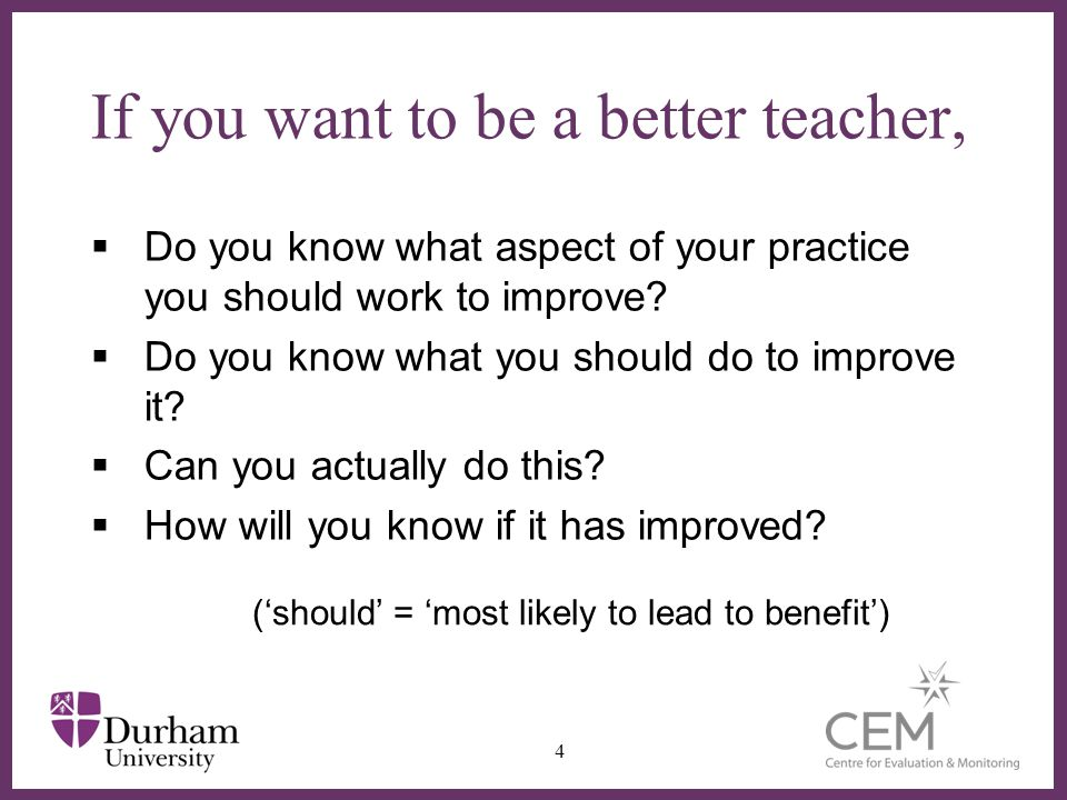 ∂ Clarifying, sharing and understanding learning intentions and success criteria  Attempts to describe these are either –Too broad to be well-defined –Too narrow to capture real learning  Must be operationalised with –Examples of behaviours that do / do not exemplify –Specific tasks that elicit evidence of learning  Therefore need to assess teacher learning –Does not imply evaluation/ranking/consequences 15 (Wiliam, 2011)