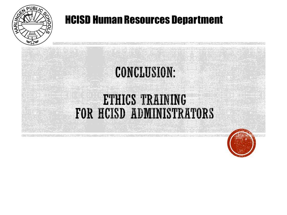 HCISD Human Resources Department