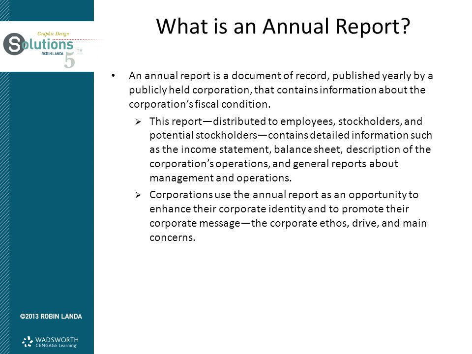 What is an Annual Report.