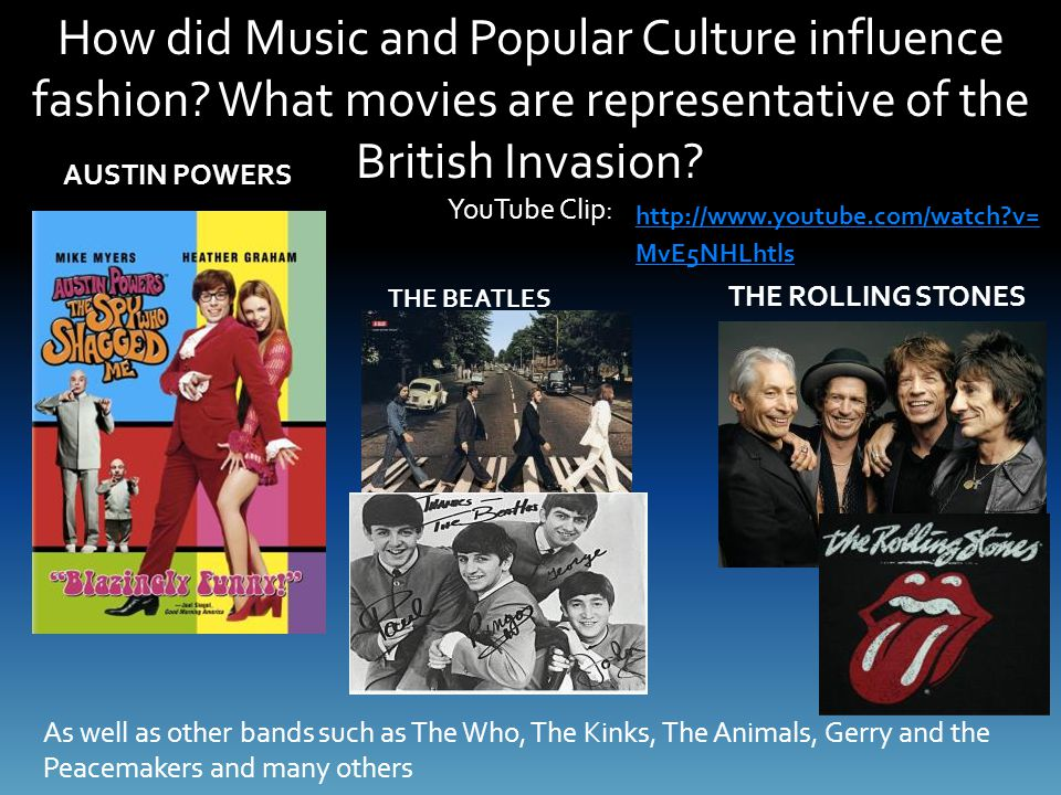 How did Music and Popular Culture influence fashion.