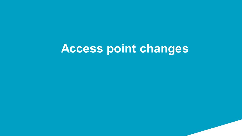 Access point changes