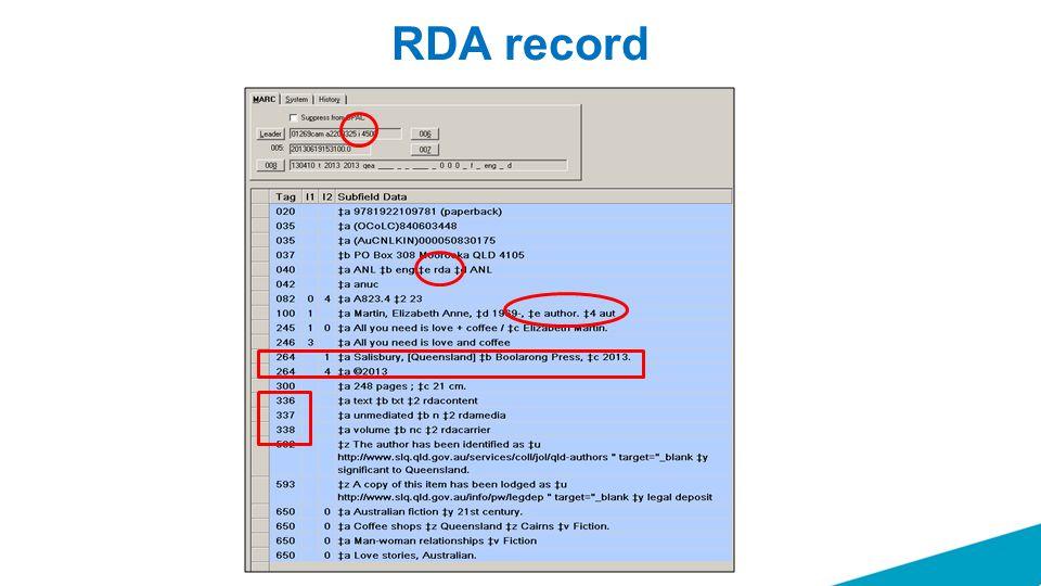 RDA record