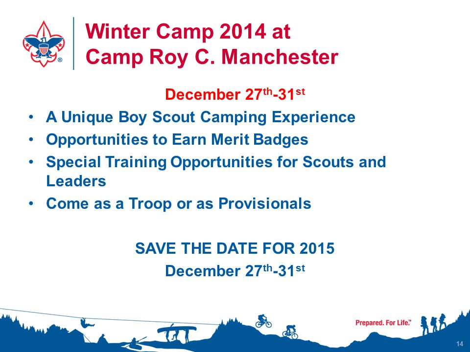 Winter Camp 2014 at Camp Roy C.