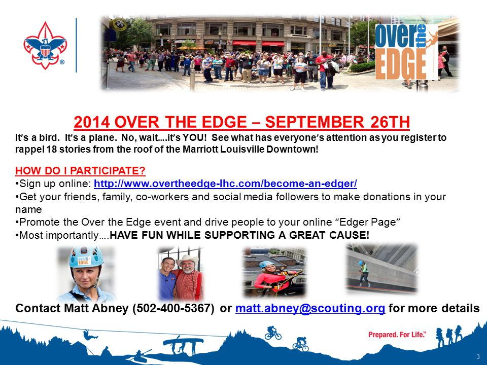 3 2014 OVER THE EDGE – SEPTEMBER 26TH It ' s a bird.