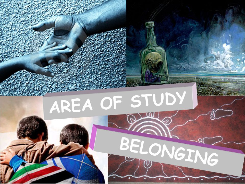 BELONGING AREA OF STUDY
