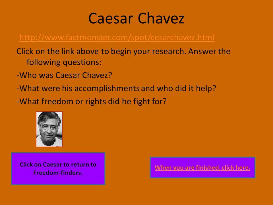 Freedom-finders Caesar ChavezThurgood Marshall Susan B.