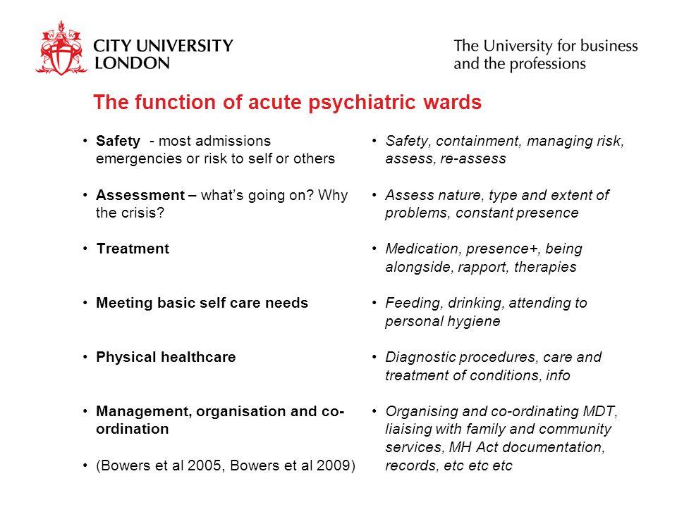 Thanks Members of Mental Health Nurse Academics UK http://mhnauk.swan.ac.uk/main.htm Geoff Brennan, Nurse Consultant at Camden and Islington NHS Foundation Trust, London Bonus slides….